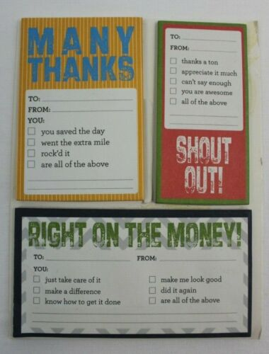 Gartner Studios Work Recognition Notes, Novelty Sticky Notes
