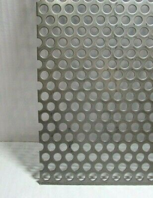 38 Hole 16 Gauge 304 Stainless Steel Perforated Sheet 5 X 12
