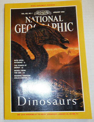 National Geographic Magazine Dinosaurs   Wide Open Wyoming January 1993 121314R2