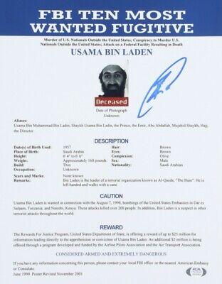 "Robert J. O'Neill Signed ""FBI Ten Most Wanted Fugitives"" 11x14 Photo (PSA COA)"