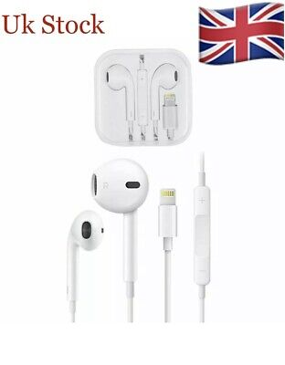 UK Lightning Earphones With Mic Headphones Pop-Up iPhone 7 8 Plus X XS 11,11 Pro