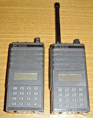 Lot Of 2 Bendix King Lph5141 Handheld Portable Two-way Radio Lph 5141 Antenna