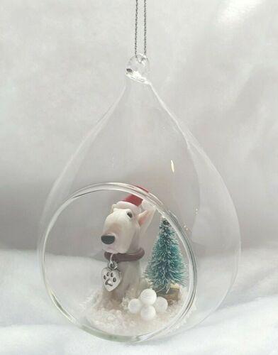 ODD BULLS Hand Made English Bull Terrier Christmas Small Bauble Decoration