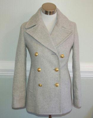 JCrew $298 Majesty Peacoat Sz 6 Hthr Dusk Gray Coat Jacket F4923 AVL for sale  Hendersonville