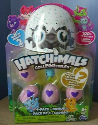 Hatchimals 4 PACK + BONUS SEASON 2 (GOLDEN HATCHIMAL?)  HATCHIMALS COLLEGGTIBLES