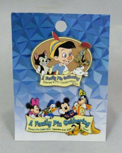 Disney Pin - A Family Pin Gathering Pinocchio and Friends Figaro Jiminy Cricket