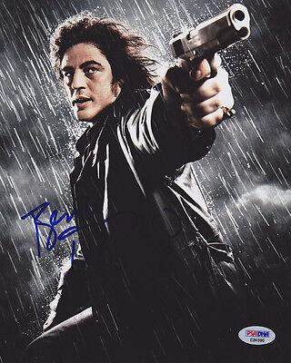 Benicio Del Toro Signed 8X10 Photo Jack Rafferty Sin City Psa Dna Autographed