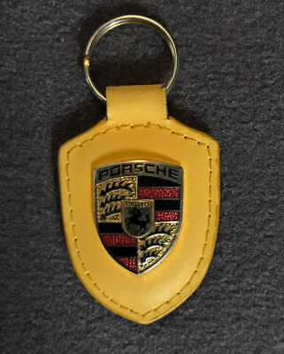 Porsche Crest Key Ring (yellow)