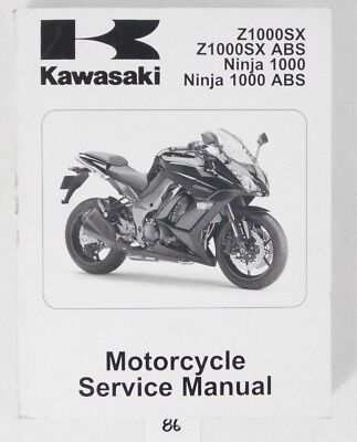 2011 Kawasaki Z 1000 SX ABS Ninja ABS Service Repair Manual OEM 99924-1442-31