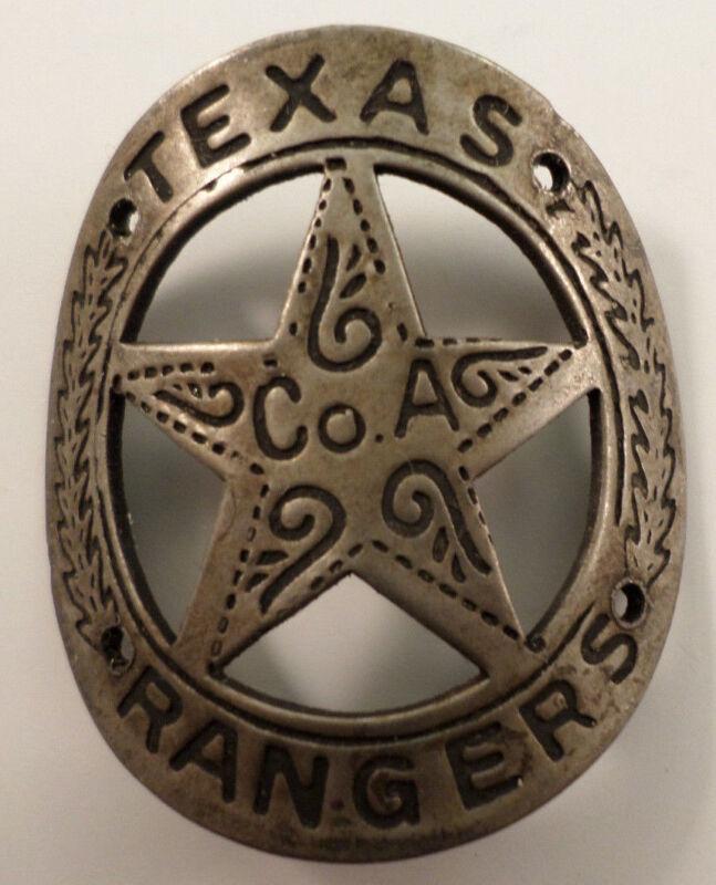 Western Americana Gun Butt Tag Vintage Patina Texas Ranger #A5