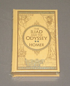 Homers-The-Iliad-The-Odyssey-Hardcover-Leather-Book