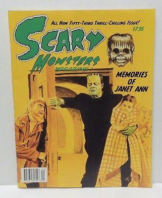 Scary Monsters Magazine #53 Janet Ann Bela Lugosi Eerie Street - Frankenstein