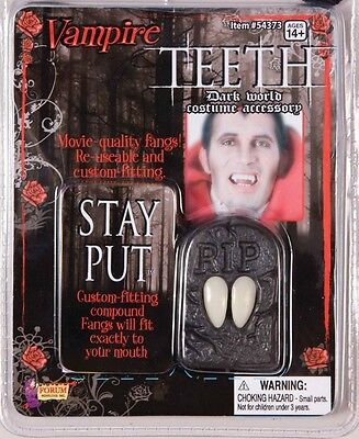 Vampire Stage Fangs Dracula Twilight Fancy Dress Up Halloween Costume - Twilight Fangs