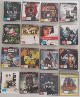 Assorted PS3 Playstation 3 Games from $5