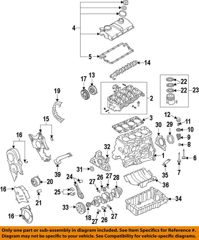 Audi Oem 10-13 A3-engine Cylinder Head 03l103265x