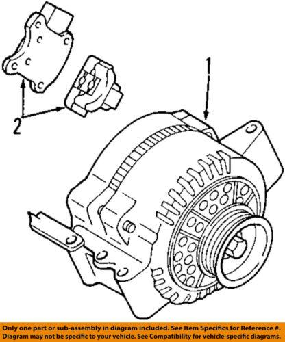 Ford Oem Alternator 7l3z10346crm