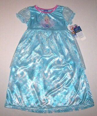 Nwt New Disney Frozen Princess Elsa Nightgown Pajamas Costume Dress Cute Girl 2T