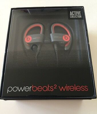 Beats By Dr Dre Powerbeats2 Wireless Ear Hook Bluetooth Headphones Siren Red