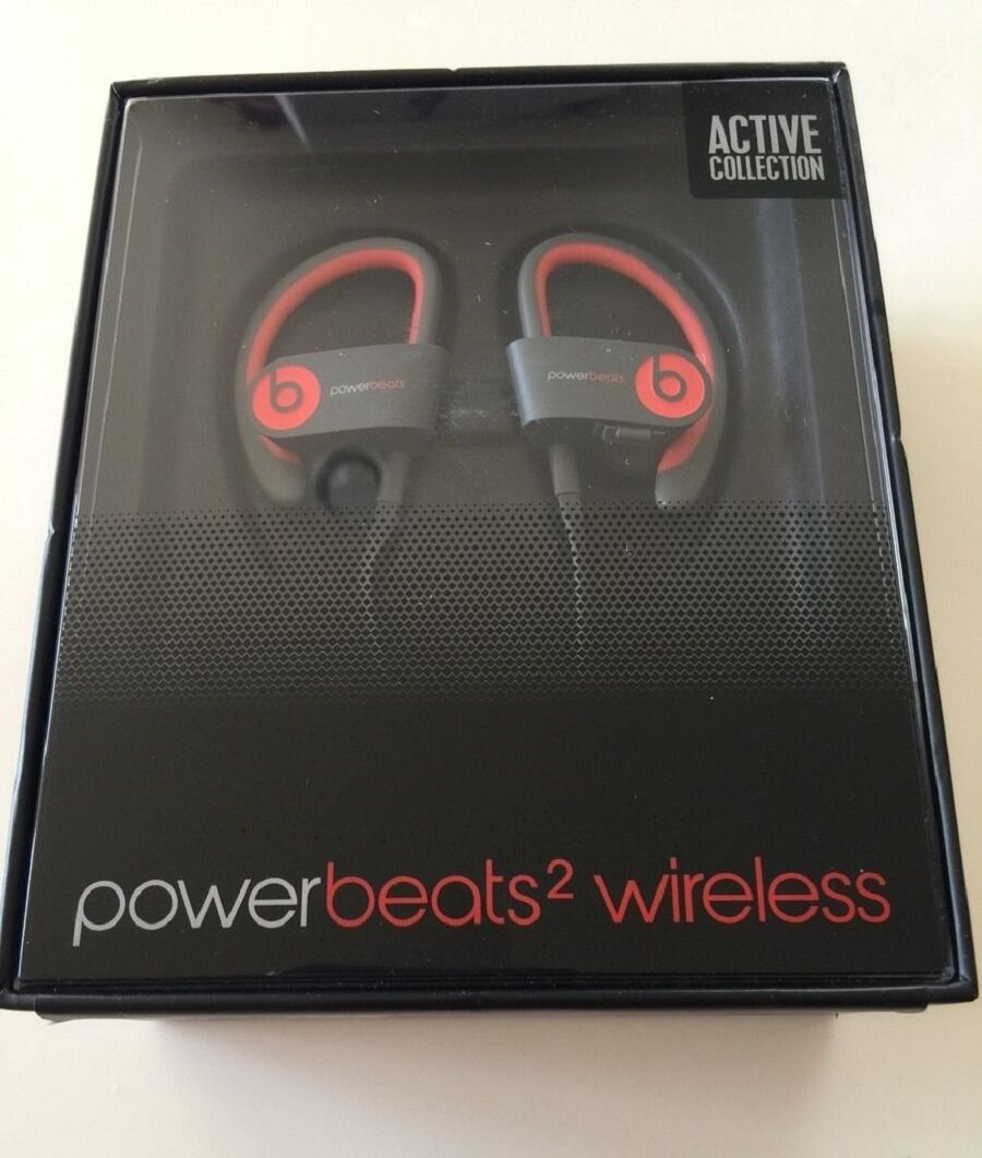 Beats By Dre - Beats by Dr Dre Powerbeats2 Wireless Ear-Hook Bluetooth Headphones Siren Red NEW