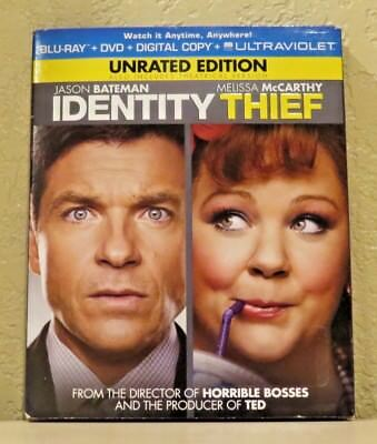 Identity Thief  Blu Ray Dvd Digital Copy Ultraviolet  2013  Unrated Edition New