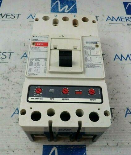 EATON / CUTLER HAMMER KD3400F 3P CIRCUIT BREAKER KT3300T 300A TRIP 600V KD3300