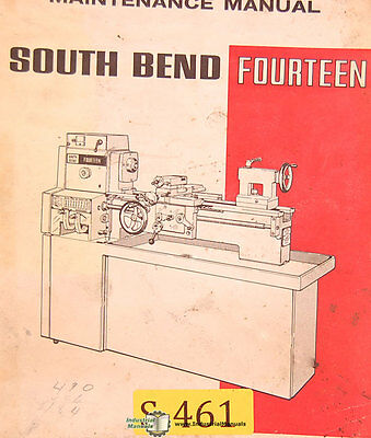 South Bend Fourteen Lathe Operations Maintenance And Parts Manual 1969