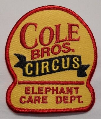 Cole Bros. Circus Elephant Department Embroidered Employee Patch