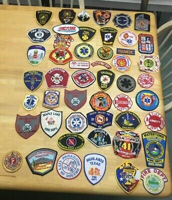 NICE LOT OF 50 FIRE RELATED  PATCHES  ML09