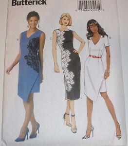 Butterick 6163 Sleeveless Lined Overlay Shift Dress Sewing Pattern 6-14 UNCUT