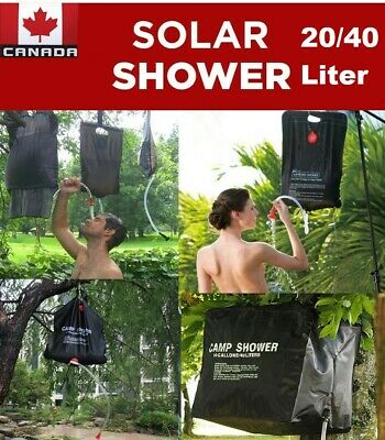 40L/20L Camp Shower Bag Portable Solar Heating Outdoor Camping Hiking CA Stock