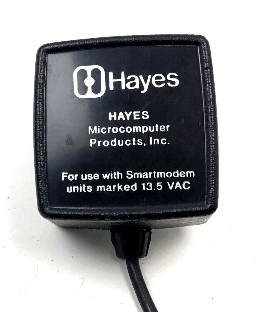 Hayes Microcomputer Products Smartmodem Power Cord AC Adapter 13.5V OEM 3 Pin  - $19.97