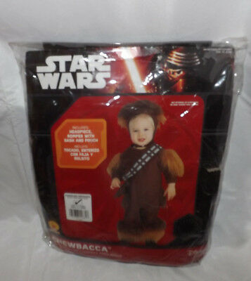 DISNEY STAR WARS CHEWBACCA  CHILD COSTUME HEADPIECE ROMPER W/SASH & POUCH 2T-4T - Chewbacca Sash