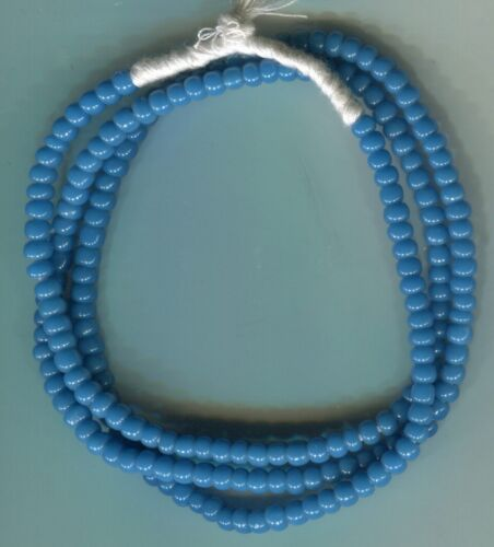 African Trade beads vintage Venetian old greasy blue glass seed beads