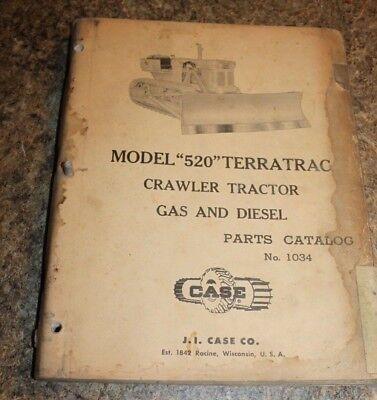 Case Model 520 Terratrac Crawler Tractors Gas And Diesel Parts Catalog - L