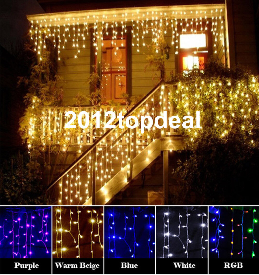 christmas outdoor decoration 3.5m Droop curtain icicle strin