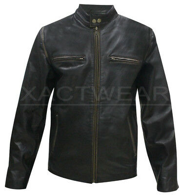 New Daddy's Home Movie Outfit Mark Wahlberg Biker Distressed Real Leather - Bikers Outfit