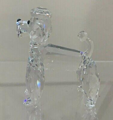 "Swarovski Crystal Figurine 7619 NR 000 003 STANDING POODLE DOG APPROX 2.5"""