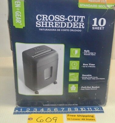 Cross-cut Shredder Capable Of Shred Credit Cards Small Paper Clips And Staples