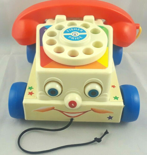 Fisher Price Chatter Telephone Talking Rolling Phone 2009 Mattel Inc Retro Phone