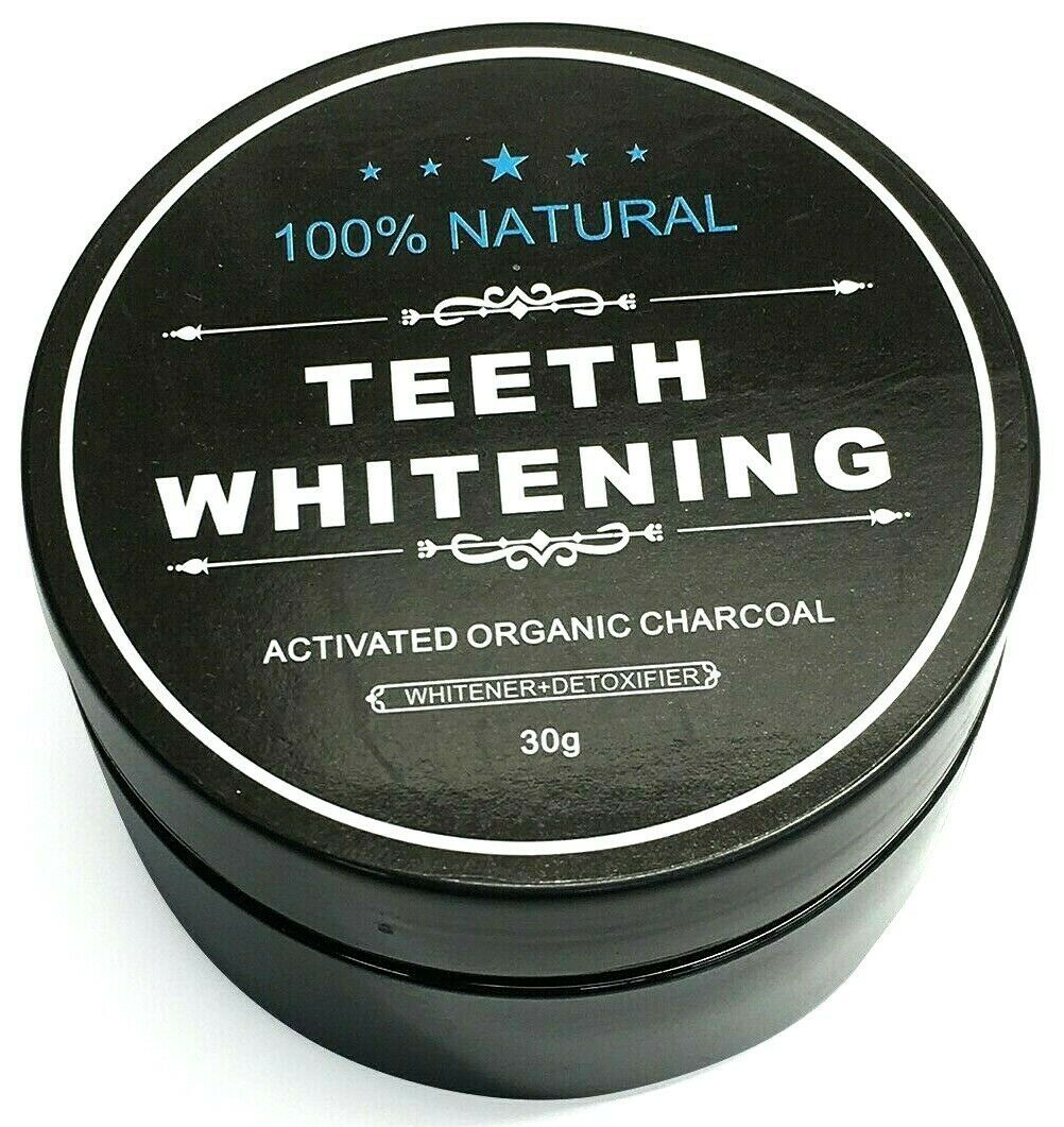 All Natural Activated Organic Charcoal for Teeth Whitening W
