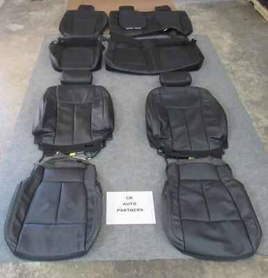 Leather Seat Black Leather - 2015 - 2019 ORIGINAL FORD F150 SUPER CREW TAKEOFF BLACK LEATHER SEAT UPHOLSTERY