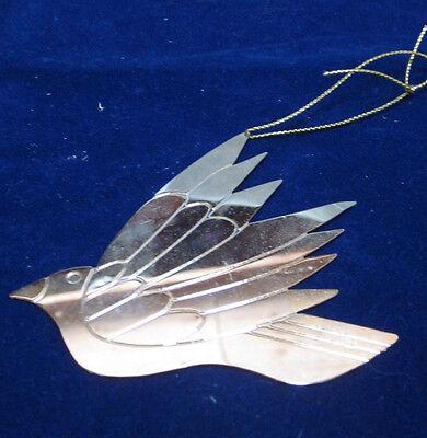 Laurel Burch Christmas 1989 Gold Metal  Dove Ornament