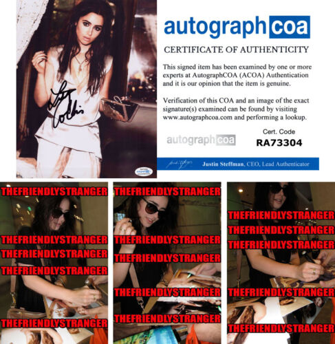 LILY COLLINS signed Autographed 8X10 PHOTO K - PROOF - Hot SEXY Tolkien ACOA COA