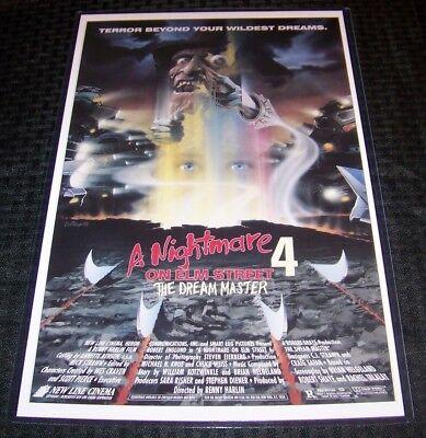 Nightmare on Elm Street 4 The Dream Master Freddy Krueger 11X17 Movie Poster