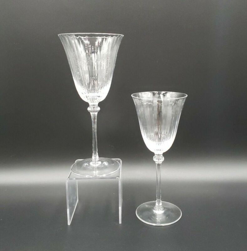 Cristal De Sevres TITIEN Water Goblet & Wine Glass MINT HTF