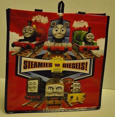 "Thomas the Tank Engine Train toys ""Steamies vs Diesels"" Reusable Tote Bag NEW"