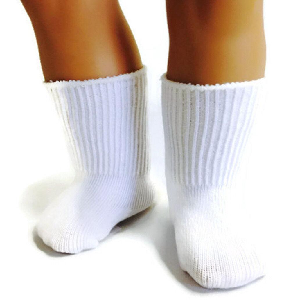 White Knit Sport Socks made for 18 inch American Girl Dolls