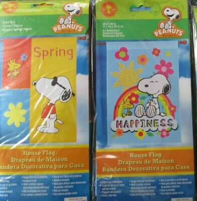 Snoopy Summer (Snoopy Spring /Summer Large Decorative Flag  28 x 40---CHOOSE)
