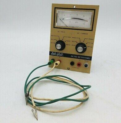 Vintage Lab-volt Aa 766 Meter Panel Aa766 05j 0197 Vom Tester Buck Engineering