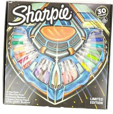 New 2019 Limited Edition 30ct Sharpie Permanent Fineultra Fine Marker Set Nib